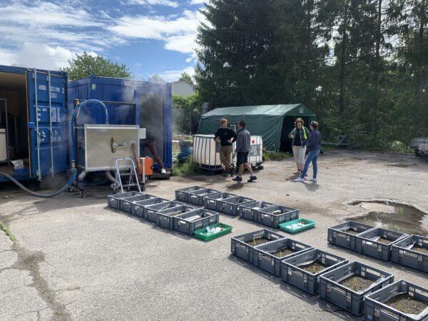 Soil Steam trials at Nibio in Norway (photo: Soilsteam.com)